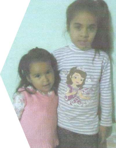 Genesis and her sister Paz from Paraguari, Paraguay